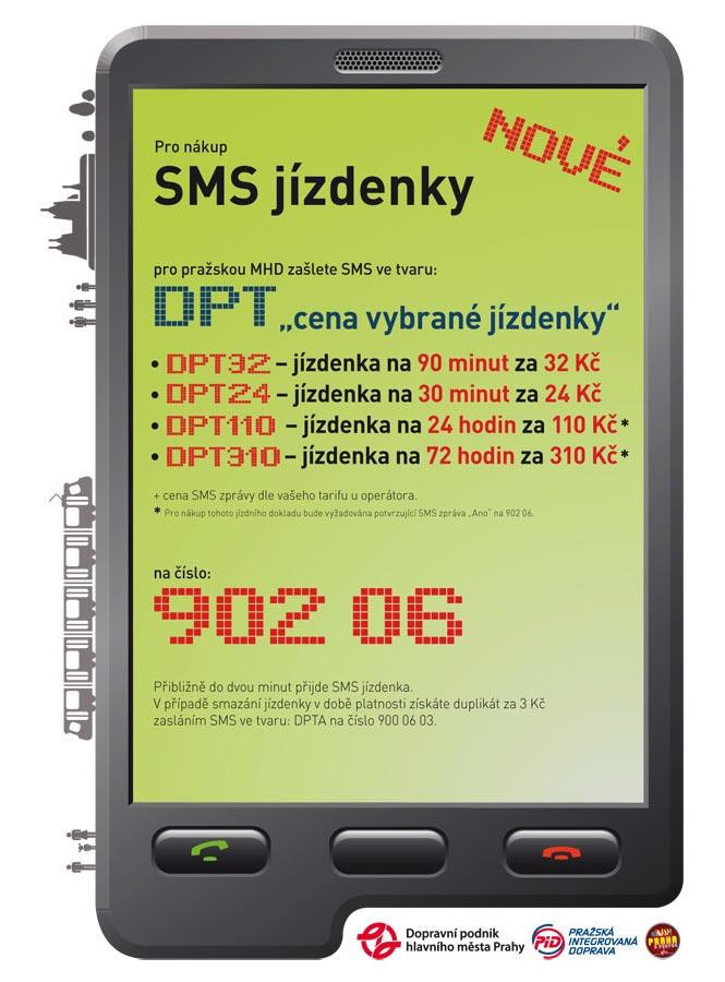 SMS jízdenka Praha